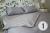 """Silver bed set """"Bastard"""""""